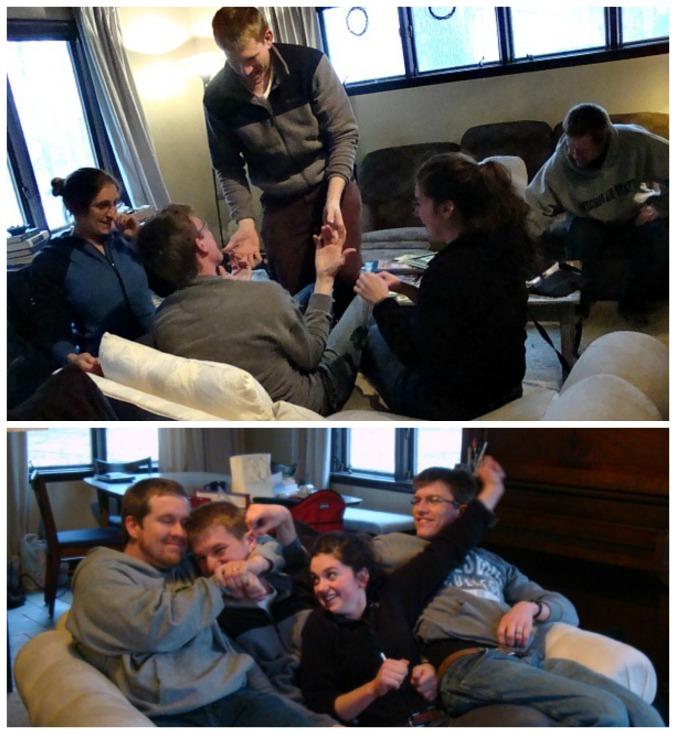Top: Emma, Jack, Aaron, Caroline. Bottom: Bruce, Jack, Caroline, Aaron.