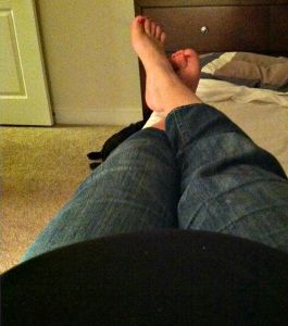 These feet are not as swollen as last time! Which is unbelievable, but really awesome!
