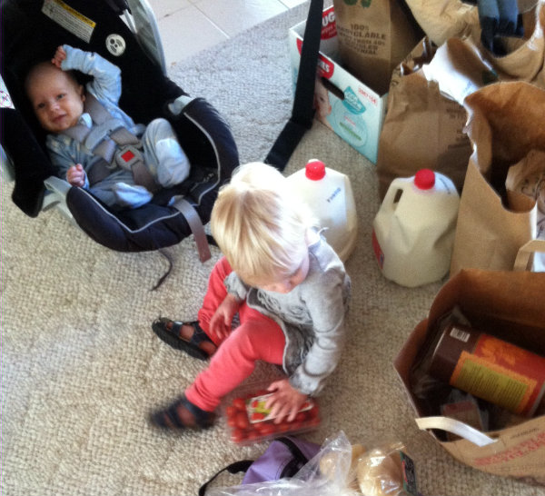 two kids, two grocery stores - one giant bundle of blessiing